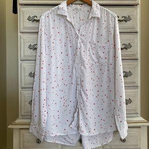 Vici Hearts Button Down Shirt